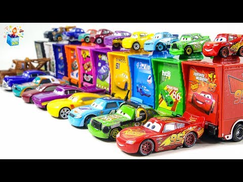 Learning Color Disney Pixar Cars City Vehicle Mack Truck Parking Play Funny Video For Kids