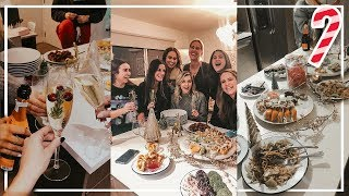 Our Christmas Party Vlog! Sushi Station, White Elephant + Baking Cookies | VLOGMAS DAY 7 | 2019