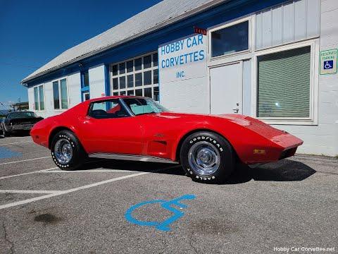 1974 Red Corvette Big Block Stingray T Top For Sale Video