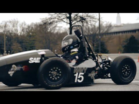 U.S. Naval Academy Midshipmen Engineers Build a Race Car