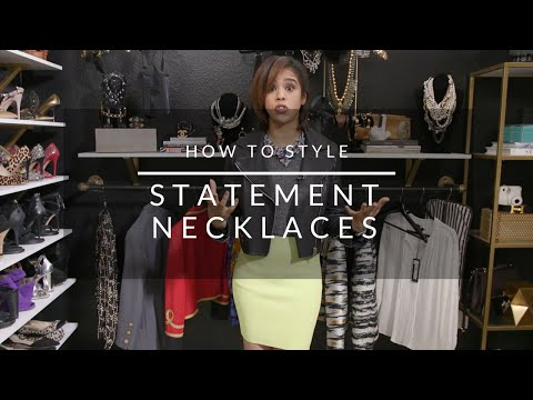 How To Style Statement Necklaces