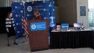 2019 TSA Thanksgiving Travel Press Event