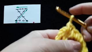 23 Урок. Большой крест. Техника быстрого вязания. Крючок для начинающих.