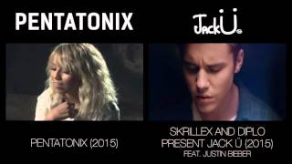 Where Are Ü Now - Pentatonix & Jack Ü (side by side)