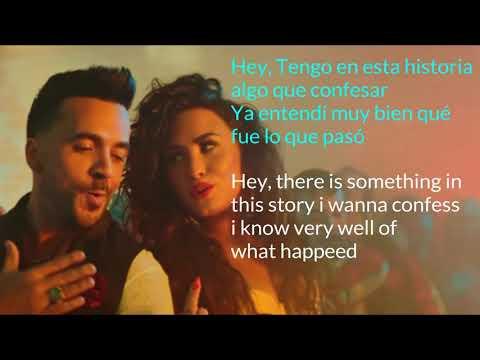 Luis Fonsi ,Demi Lovato Echame LA Culpa Song Lyrics English + Spanish