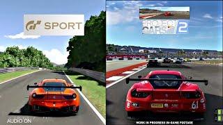 Gran Turismo sport vs Project cars 2 sounds graphics