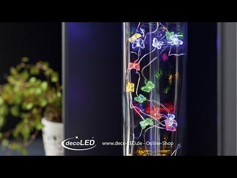 Lichterkette mit bunt Schmetterlinge