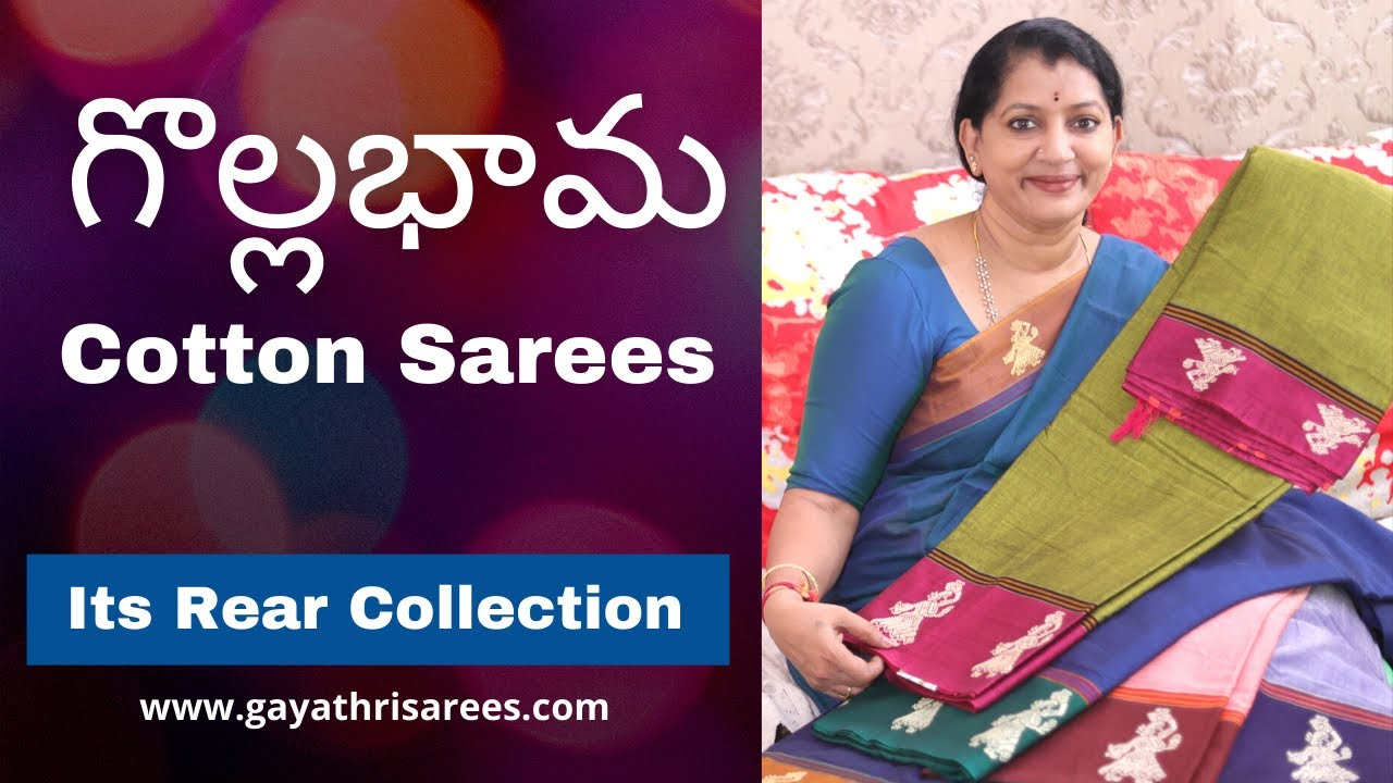 """<p style=""""color: red"""">Video : </p>New Latest Gollabhama Sarees  It& 39;s Pure Cotton &amp; Rear Collections 