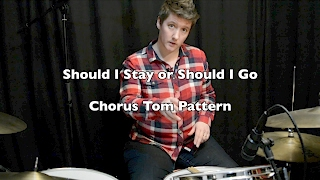 Should I Stay or Should I Go - Chorus Tom Beat | Drum Lesson