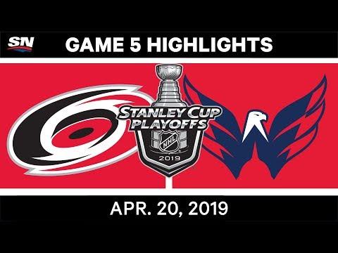 NHL Highlights   Hurricanes vs. Capitals, Game 5 – April 20, 2019