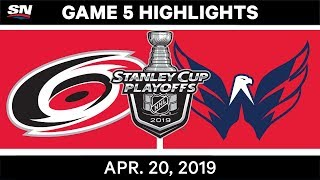 NHL Highlights | Hurricanes vs. Capitals, Game 5 – April 20, 2019
