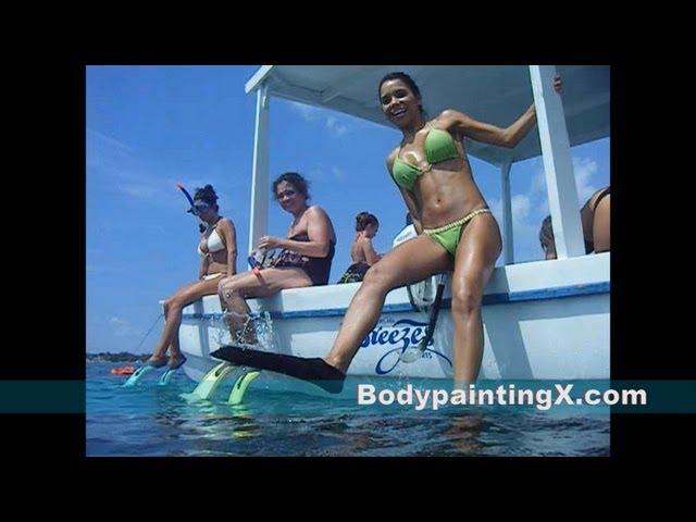 Bikini Models go Snorkeling in Jamaica