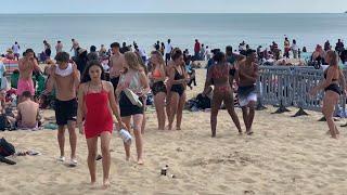 Bournemouth Beach summer 2019 uk 🇬🇧