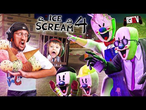 ICE SCREAM 4:  Rod Scares the FGTeeV Family IRL🍦 (Factory Gameplay/Scare Cam)