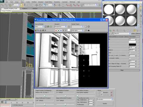 Using Ambient Occlusion with mental ray in 3dsMax 2010 part 1