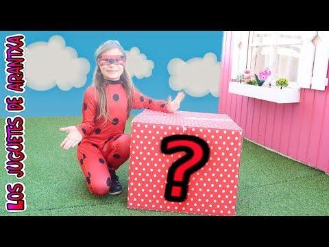 Me encuentro una caja misteriosa en el jardin de mi casita - Unboxing Ladybug