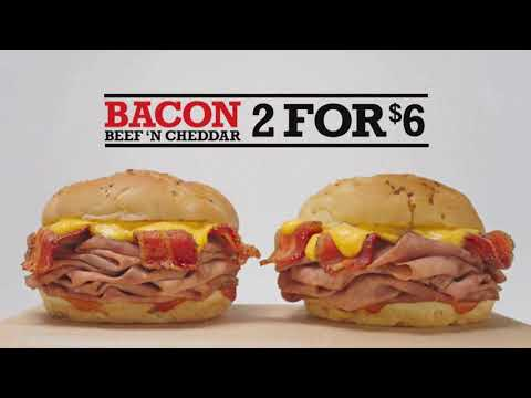 Arby's NEW! ☆BACON BEEF 'N CHEDDAR☆ Food Review!!!
