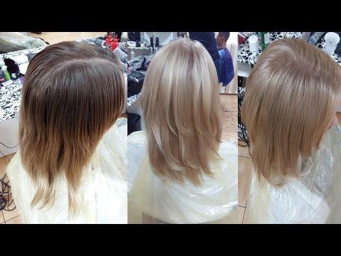 Окрашивание волос The color бежевый блондин