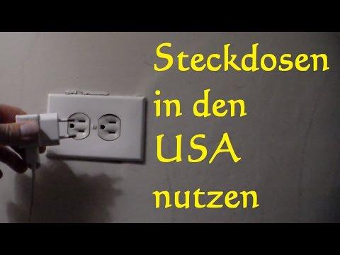 Steckdosenadapter in den USA benutzen - Steckdosen USA - Netzspannung USA Reiseadapter Reisestecker