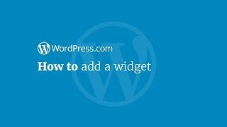 WordPress Tutorial: How to Add a Widget