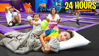 Last to Leave TRAMPOLINE Wins PRIZE! | The Royalty Family