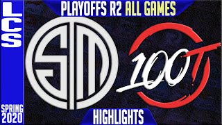 TSM vs 100 Highlights ALL GAMES | LCS Spring 2020 Playoffs Round 2 | Team Solomid vs Hundred Thieves