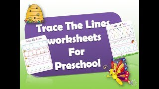 Trace The Lines Practice Worksheets For Preschoolers, Free Introduction Of Handwriting Preschoolers