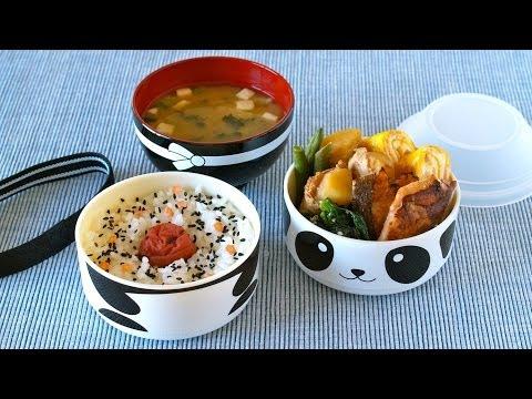 Hinomaru Bento (in Kawaii Panda Bento Box) かわいいパンダの日の丸弁当 – OCHIKERON – CREATE EAT HAPPY