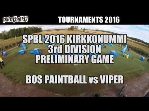 BOS Paintball vs Viper - SPBL2016 Kirkkonummi