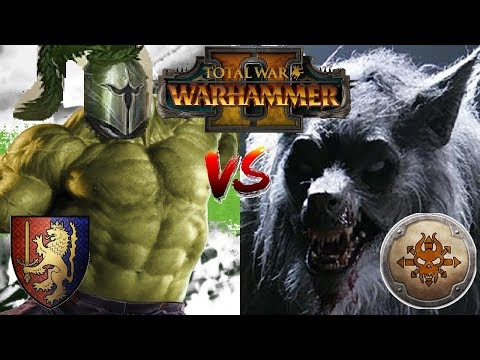 Bretonnia vs Norsca | THE GREEN KNIGHT SMASH- Total War Warhammer 2