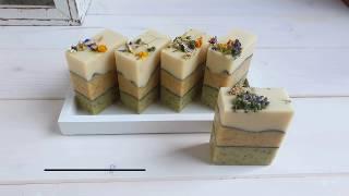Seifensieden im Kaltverfahren / Naturfarben mit Seifenrezept
