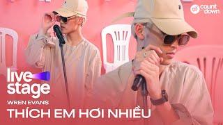 Wren Evans lần đầu live Thích Em Hơi Nhiều | 1st Live Stage HOT14's Live Countdown