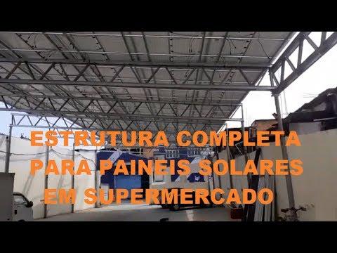 INSTALAO DE ENERGIA SOLAR EM SUPERMERCADO