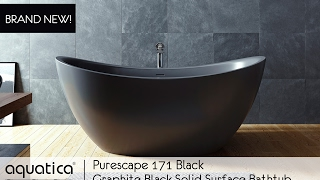 PureScape 171 Mini Graphite Black Solid Surface Bathtub - Infomercial