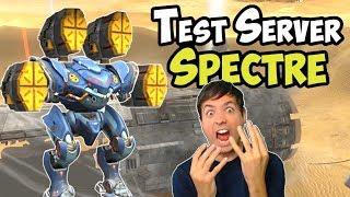 War Robots New OP Robot Spectre Test Server Gameplay (3.6)