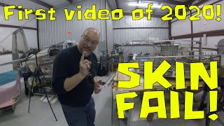 RV-10 Fuselage - 023 - First video of 2020! Showing skin bend fail!