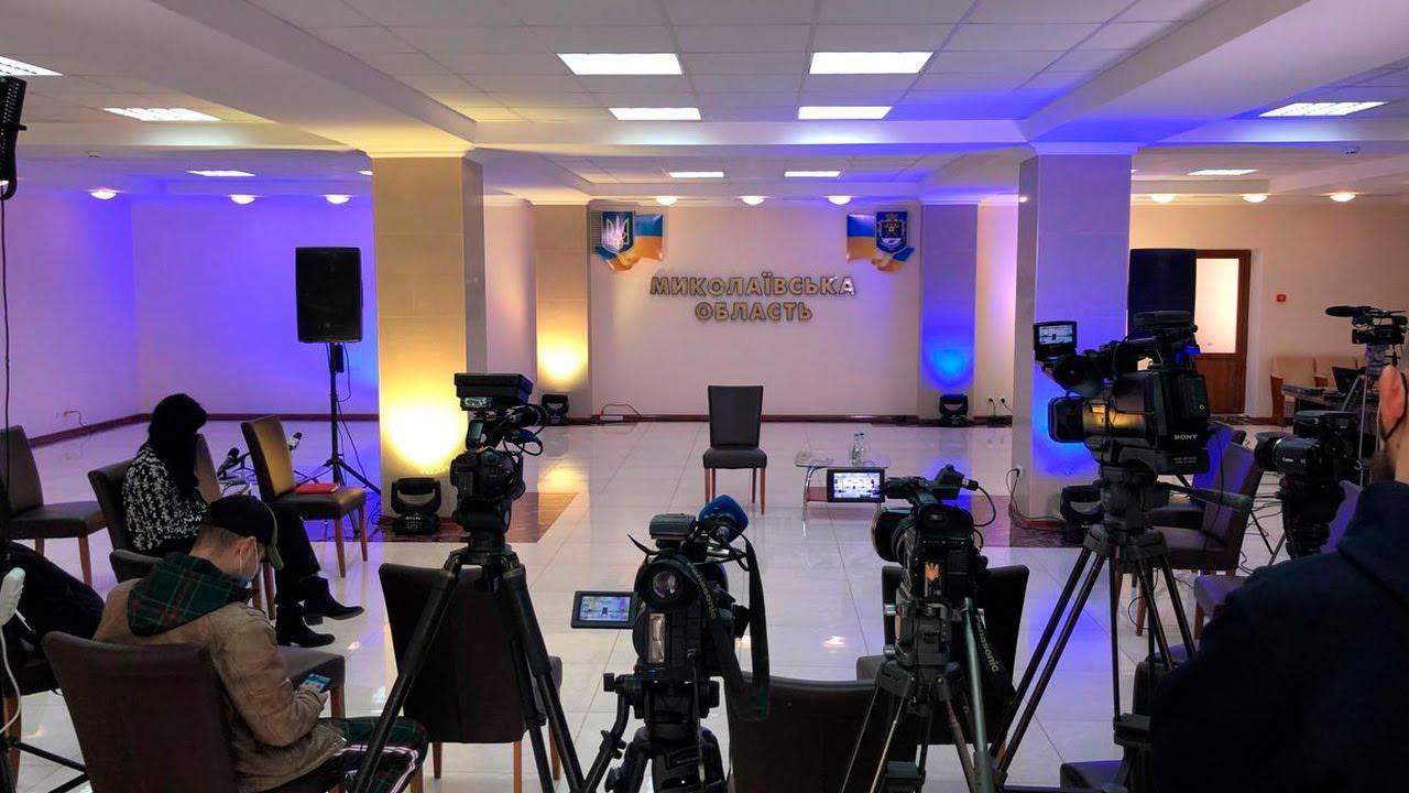 Пресс-конференция главы Николаевской ОГА Виталия Кима