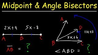 Angle Bisector Theorem, Midpoints & Line Segments, Geometry Practice Problems