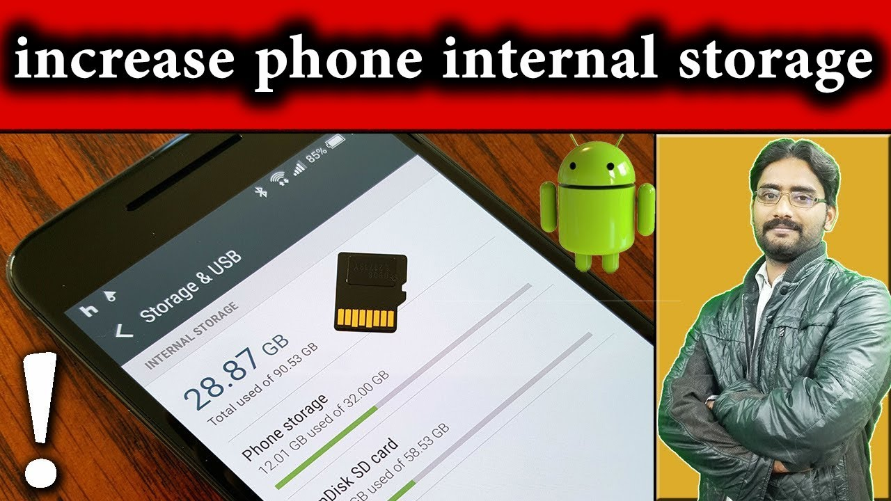 Hack To Increase Your ANDROID Phones Internal Storage