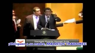 MONREAL ENOJADO  EN EL SENADO