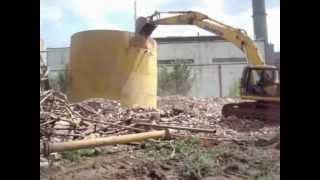 preview picture of video 'Rückbau Gebäude C14 Alash Fabrik Temirtau Kasachstan'