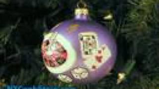 Las Vegas Casinos Glass Christmas Ornament