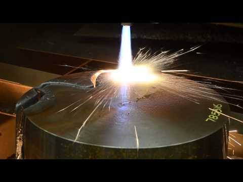 Cutting 8 inch steel with the Oxweld PM-100 Torch