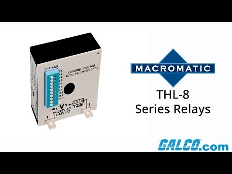 Macromatic's THL-8 Series of Timing Relays