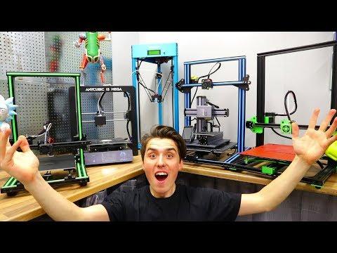 MASSIVE 3D Printer Comparison – Best 3D Printer 2018