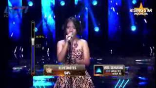 Hanin Dhiya 'Somewhere Out There' Linda Ronstadt   Grand Final Rising Star Indonesia Eps 24