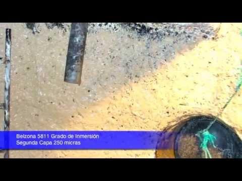 Belzona 5811 Grado de Inmersión.  Estaciones AASS