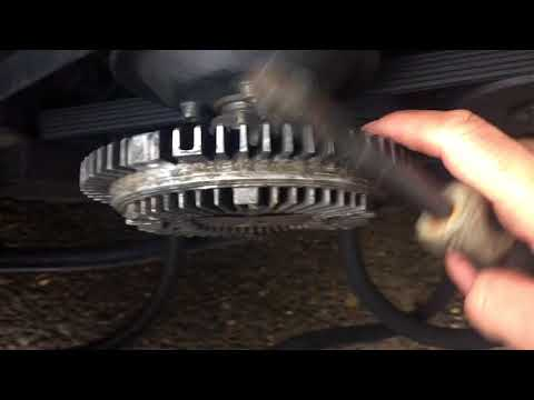 Mercedes W124 300D - How to remove, replace the cooling fan