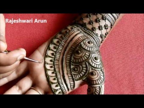easy full hand mehndi designs for beginners