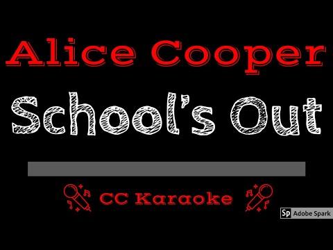 Alice Cooper • School's Out (CC) [Karaoke Instrumental Lyrics]